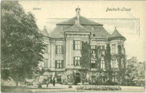 Zamek w latach 20./30. XX w., źródło: kartka pocztowa ze zbioru kolekcji Pawła Dumy